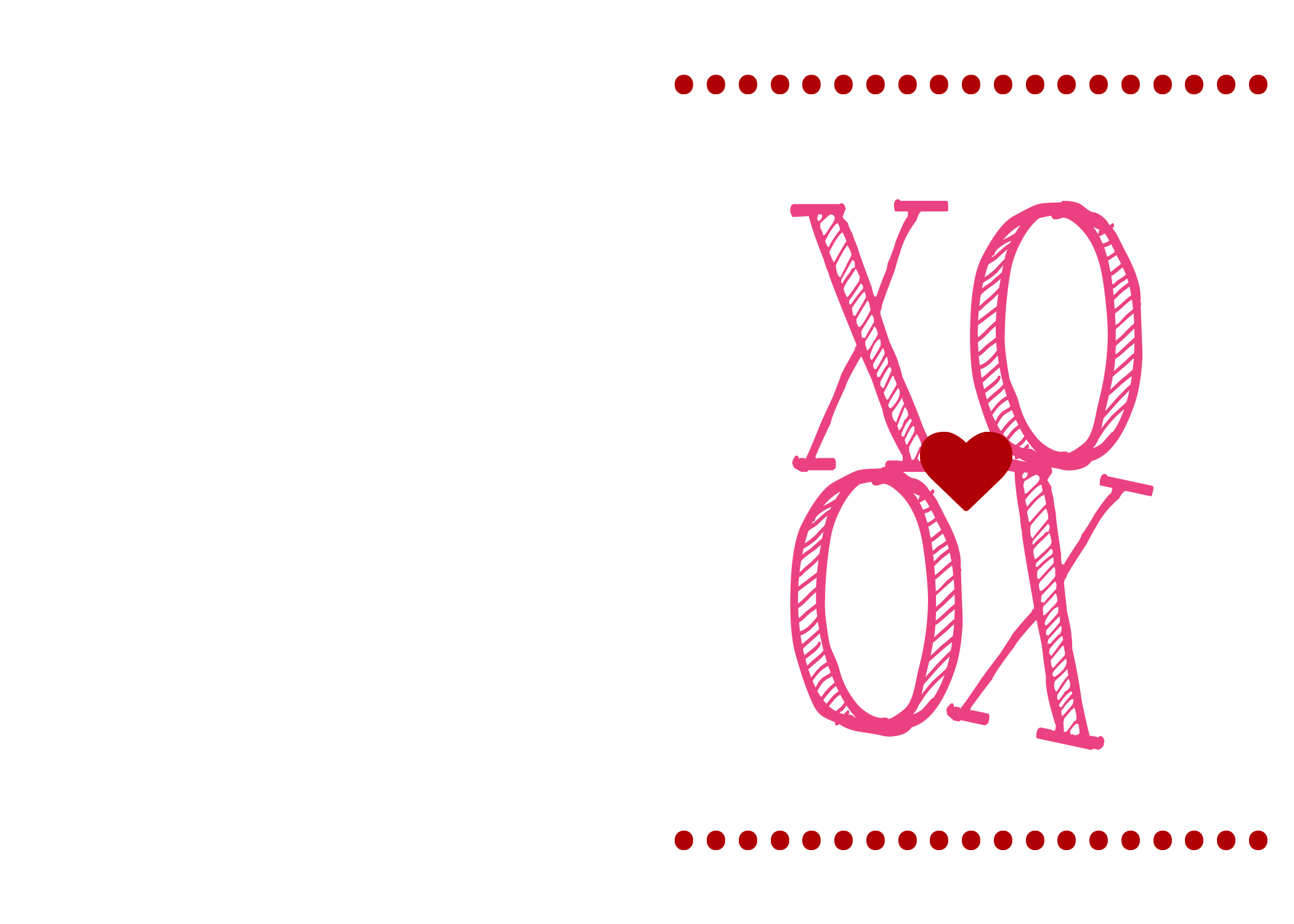 philly xoxo valentine printable