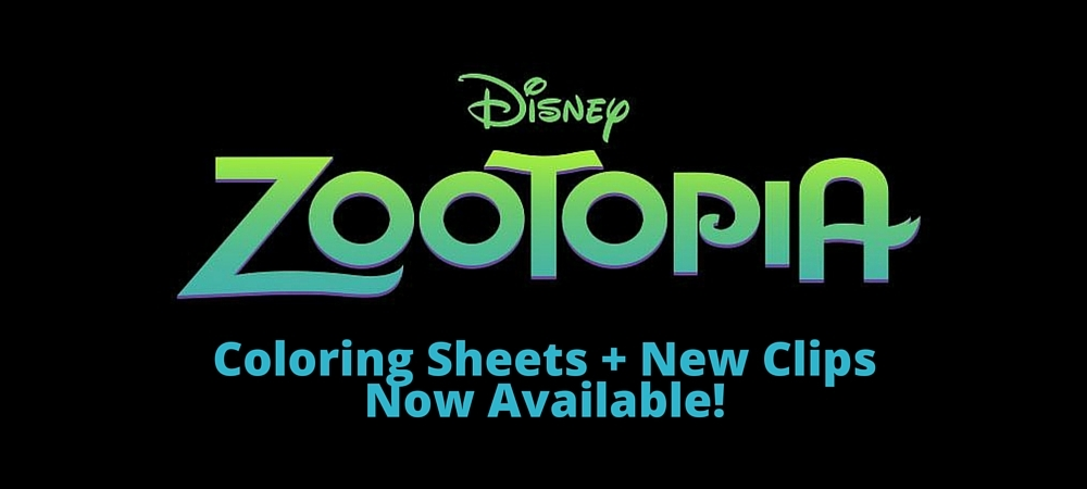 Disney's Zootopia | Coloring Sheets + New Clips Now Available