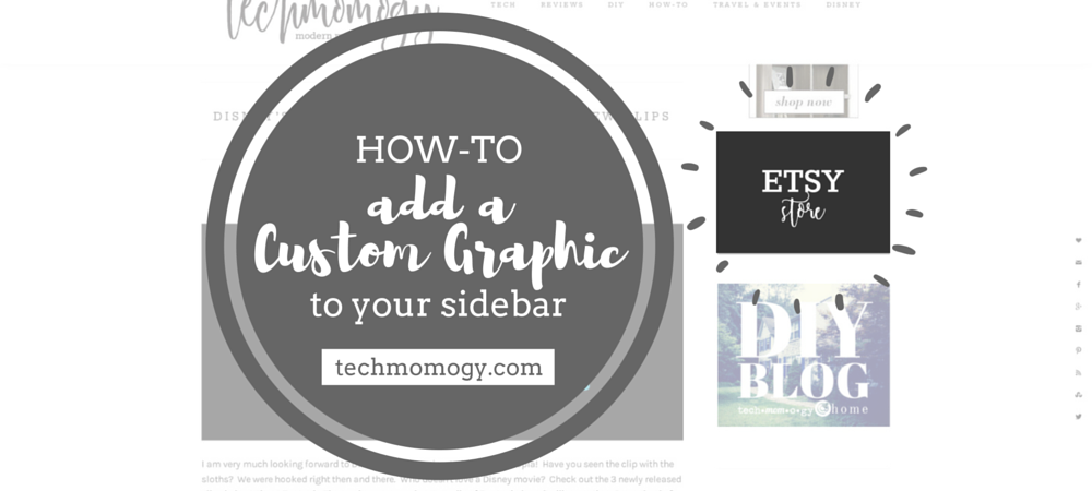 How-To Add a Custom Graphic to Your Sidebar