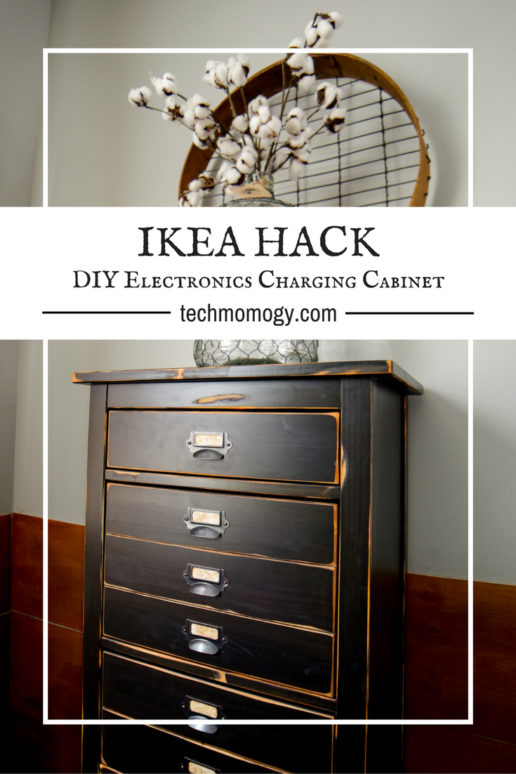 Ikea Hack Diy Electronics Charging Cabinet Techmomogy Home Wiring After We Moved That Idea Turned From A Small Counter Top Station Into