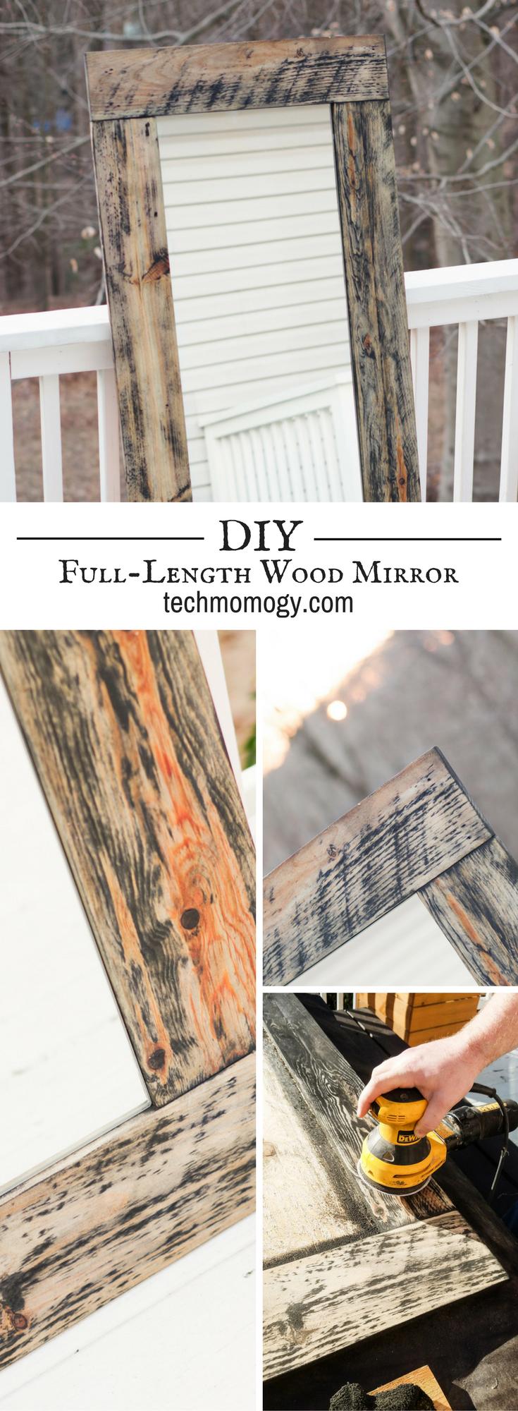 DIY Full-Length Wood Mirror - Techmomogy