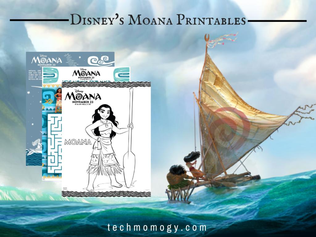 Disney's Moana Printables